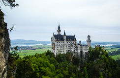 Scenic view of Neuschwanstein Castle in Bavaria Royalty Free Stock Images
