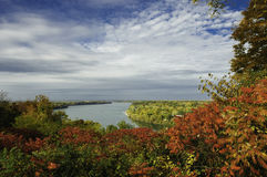 Scenic view of Niagara river in Autum Stock Photos