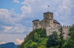 Scenic view of Niedzica Castle in Southern Poland royalty free stock photo
