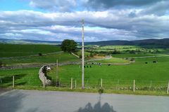 Countryside view from Kirkby Stephen Railway Station royalty free stock images