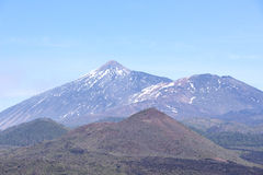 Scenic view on northern side of Teide volcano Royalty Free Stock Photo