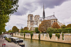 Scenic view of the Notre-Dame cathedral Stock Images