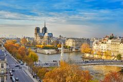 Scenic view of Notre-Dame de Paris Stock Images
