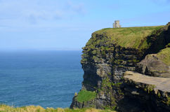Scenic View of O`Brien`s Tower`s Sea Cliffs in Ireland Royalty Free Stock Image