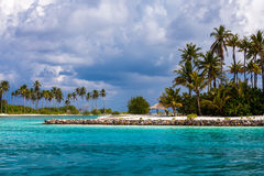 Scenic view at ocean near Maldives Royalty Free Stock Photos