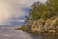 Scenic view of Jack Point and Biggs Park in Nanaimo, British Col Royalty Free Stock Photo