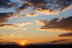 Scenic View Of Beautiful Sunset Stock Photo