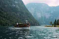 Free Scenic View Of Boat Moored To Pier Royalty Free Stock Image - 100096396