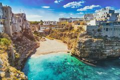 Free Scenic View Of Lama Monachile Cala Porto Beach In Polignano A Mare, Italy Stock Photography - 138565102