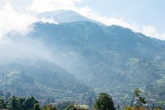 Free Scenic View Of Mountain Peak And Rural Town In South East Asia Royalty Free Stock Photos - 151599738