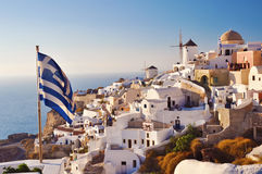 Scenic view from Oia Royalty Free Stock Photos