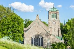 Scenic View of an old Medieval Church in Stockholm Sweden Stock Photo