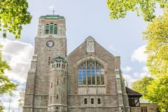 Scenic View of an old Medieval Church in Stockholm Sweden Royalty Free Stock Photos