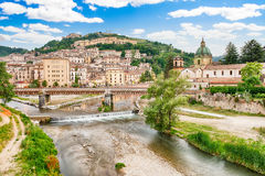 Scenic view of the Old Town in Cosenza, Italy Royalty Free Stock Photos