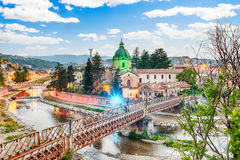 Scenic view of the Old Town in Cosenza, Italy Stock Photography