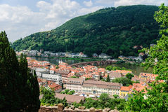 Scenic view of the old town of Heidelberg and the Old Bridge, Heidelberg, Germany Royalty Free Stock Photos