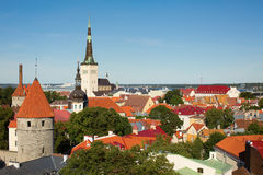Scenic view of the Old Town of Tallinn Royalty Free Stock Image