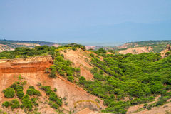 Scenic view of Olduvai Gorge Stock Image