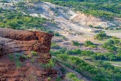 Scenic view of Olduvai Gorge Stock Photos