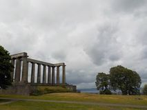 A scenic view of one of the monuments of Calton Hill, Edinbugh, Scotland. stock photography