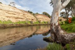 Scenic view of Onkaparinga River at Old Noarlunga, South Austral. Ia royalty free stock photography