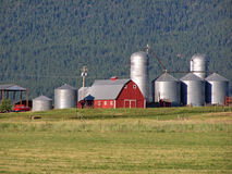 Scenic view of an Oregon ranch. Picture is of a Scenic view of an Oregon ranch with lots of silos Royalty Free Stock Images