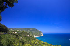 Scenic view over the Adriatic sea in Italy Stock Images