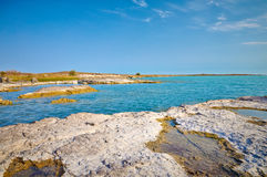 Scenic view over balkhash lake Stock Photo