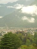 Scenic view over Chiavenna Town Stock Photography