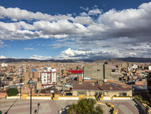 Scenic view over city of Oruro in the Andes Royalty Free Stock Images