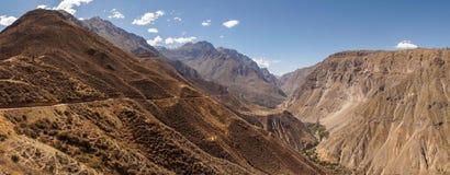 Scenic view over the Colca Canyon, Peru. Scenic view over the Colca Canyon in Peru stock photography