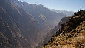 Scenic view over the Colca Canyon, Peru. Scenic view over the Colca Canyon in Peru stock images