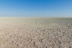Scenic view over dry Etosha pan landscape in Etosha National Park, Namibia, Southern Africa.  Stock Image