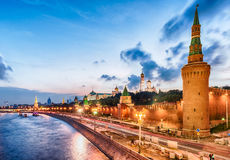 Scenic view over the Kremlin and Moskva River, Moscow, Russia Royalty Free Stock Images