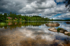 Scenic view over a lake Royalty Free Stock Image