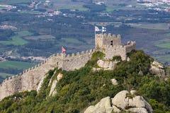 Moorish Castle in Sintra,  Portugal Royalty Free Stock Image