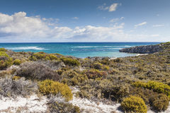 Scenic view over one of the beaches of Rottnest island, Australi Stock Photos