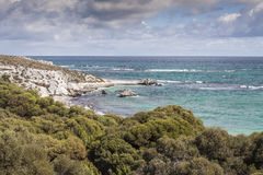 Scenic view over one of the beaches of Rottnest island, Australi Royalty Free Stock Photos