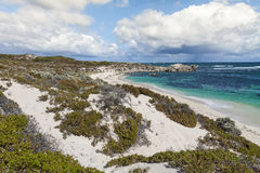 Scenic view over one of the beaches of Rottnest island, Australi Stock Photography