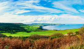 Scenic View over of Robin Hoods Bay Royalty Free Stock Images