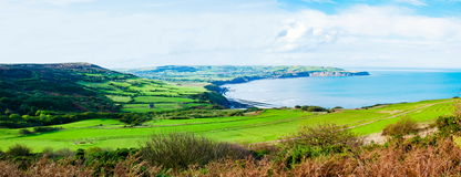 Scenic View over of Robin Hoods Bay Stock Images