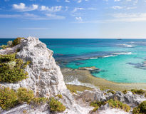 Scenic view over Rottnest Stock Photo