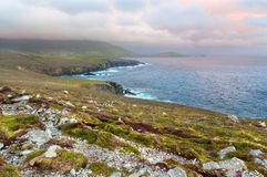 Scenic view over West coast of Ireland on Dingle peninsula Count Stock Photography