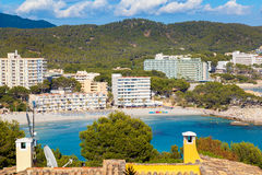 Scenic View of Paguera Beach in Majorca stock photo
