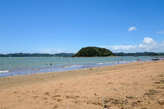 A scenic view of Paihia beach at Bay of Islands Stock Photography