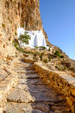 Scenic view of Panagia Hozovitissa monastery on Amorgos island Royalty Free Stock Image