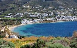Scenic view of Parikia town on Paros island royalty free stock photos