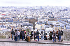 Scenic view  on  Paris from Montmartre hill. Royalty Free Stock Photos