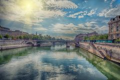 Scenic view of Paris royalty free stock images