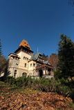 Scenic view of Pelesor Castle,Sinaia city,Romania Stock Photography